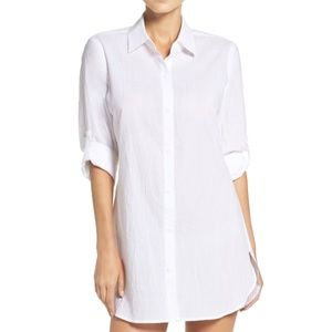 Tommy Bahama Boyfriend Shirt Swimsuit Cover-Up
